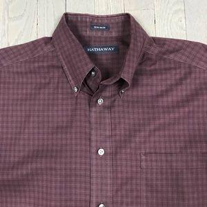 Vintage Shirts - Vintage Hathaway Non-Iron Check Button Down Shirt